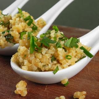 Super Easy Bulgur Wheat & Fresh Herb Salad
