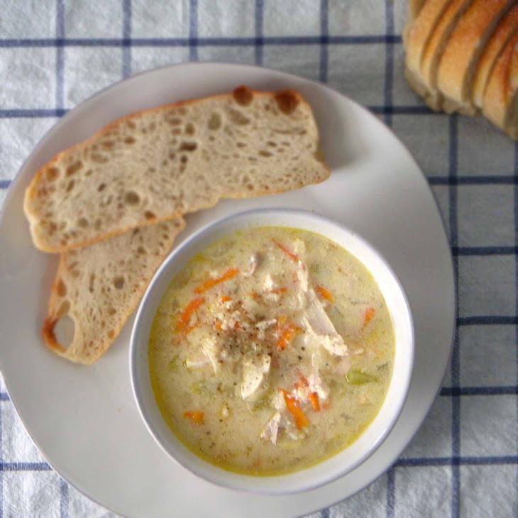 Avgolemono (Greek chicken soup with lemon and egg)