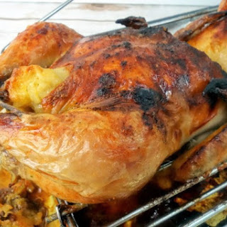 Cheesy Roasted Cornish Game Hens.