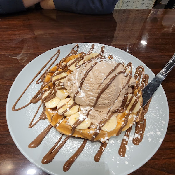 Nutella ice cream with a gf waffle!!