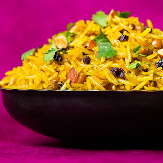 Lamb Pilau with Lentils, Currants and Almonds