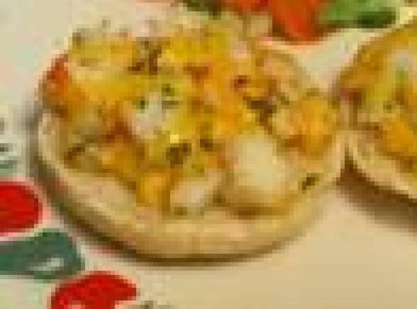 Cheesy Crab Pizzas Recipe