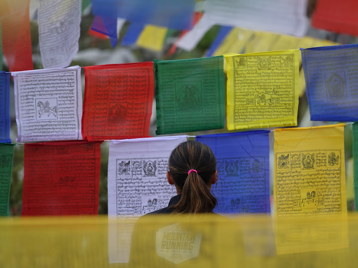 YiOu amongst the prayer flags