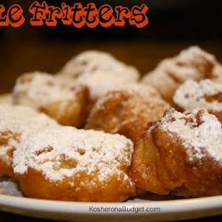 Apple Fritters for Chanukah.