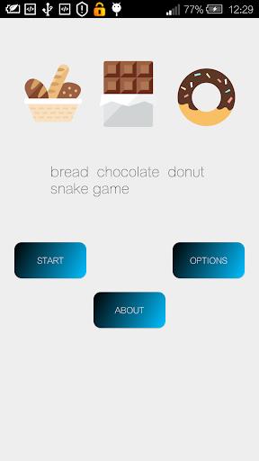 麵包 巧克力 甜甜圈 貪食蛇 遊戲