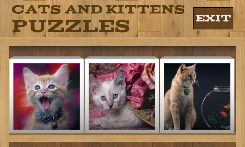 Скриншот Кошки и Котята Пазлы