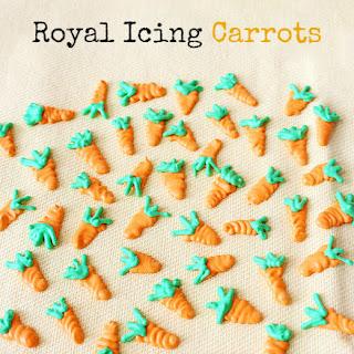 Royal Icing Carrots