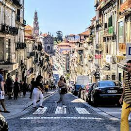 The Crossing by Stephen Lang - City,  Street & Park  Street Scenes