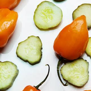 Spicy Pickle-Habanero Brine.