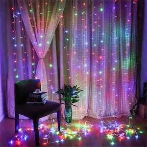 Instalatie 264 LED, ploaie de lumini, 5x1 M, multicolor