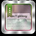 Peach galaxy GO SMS icon