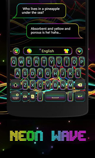 Neon Wave GO Keyboard Theme