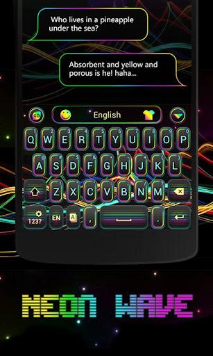 Neon Wave GO Keyboard Theme