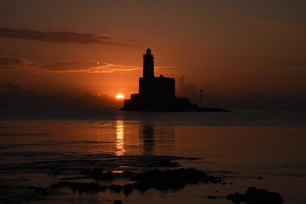 Il mare calmo della sera