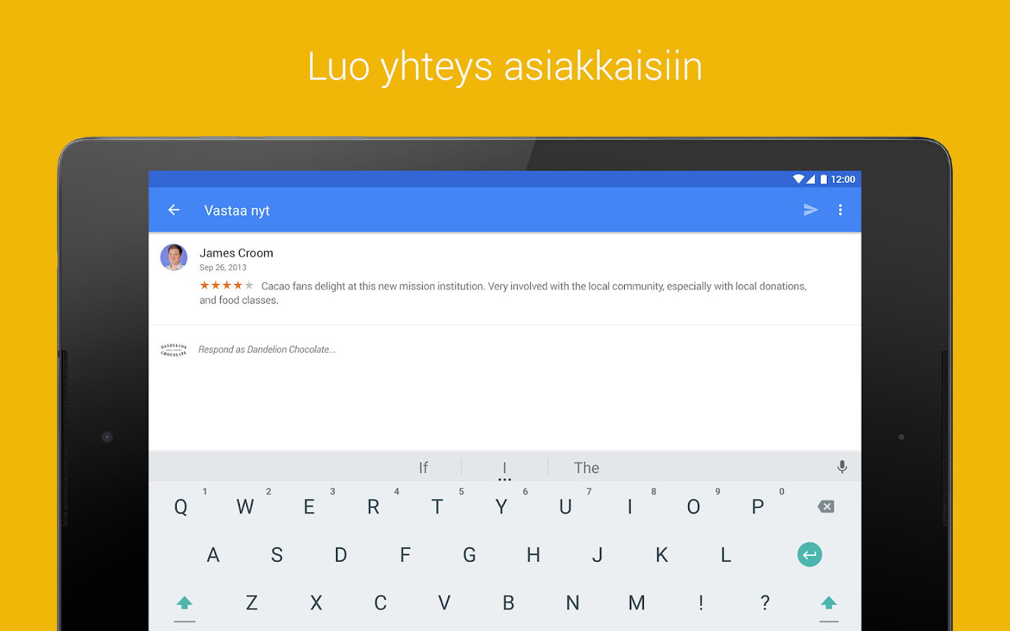Google My Business – kuvakaappaus
