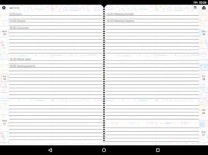 المخطط الأسبوعي – دفتر اليوميات، المنظم، التقويم 6
