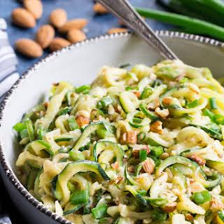 Almond Butter Sesame Zucchini Noodles {Paleo, Vegan, Whole30}.