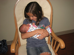 Photo: Rose holding Elizabeth...so happy and excited.