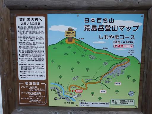 荒島岳登山マップ(しもやまコース)