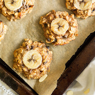 Peanut Butter, Banana and Chocolate 'Chunky Monkey' Cookies
