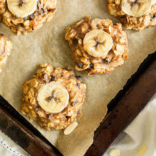Peanut Butter, Banana and Chocolate 'Chunky Monkey' Cookies.