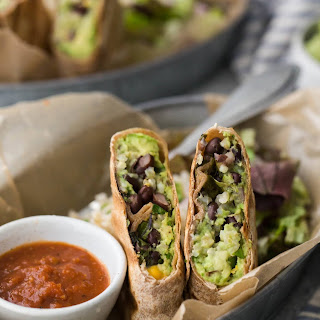 Guacamole and Black Bean Burritos.