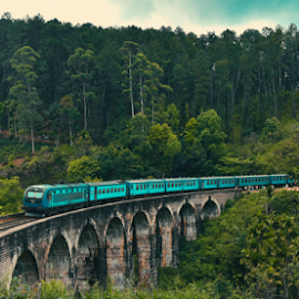 World Famous Train Journey by Sihina Lahiru - Buildings & Architecture Bridges & Suspended Structures ( mountains, forest, green, tourism, traveling, transport, trees, tour, transportation, travel photography, tourist, mountain, sri lanka, bridge, travel, gallery, train )