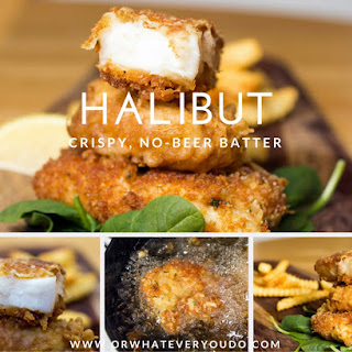 Crispy Battered Halibut {Recipe} {No Beer}