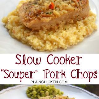 Souper Pork Chops {Slow Cooker}