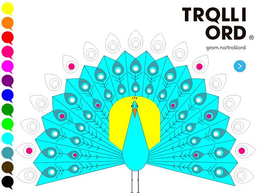Troll i ord - Farge Påfugl