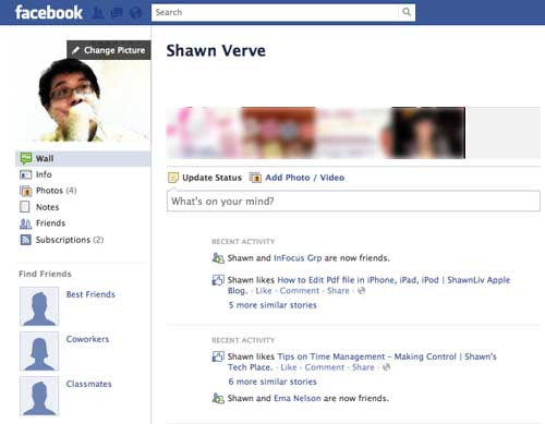 classic profile view facebook