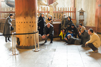 """Photo: This photo appeared in an article on my blog on Jan 17, 2013. この写真は1月17日ブログの記事に載りました。 """"That Massive Column in Nara's Todaiji Temple Is Nothing To Sneeze At"""" http://regex.info/blog/2013-01-17/2186"""