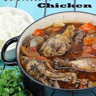 Braised Caribbean Chicken.