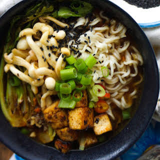 Miso Ramen Bowl With Tellicherry Black Pepper Tofu [Vegan].