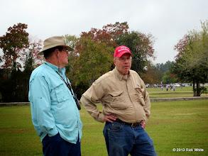 Photo: Ed Rains and Bob Barnett waiting for the action.       2013-1116 RPW