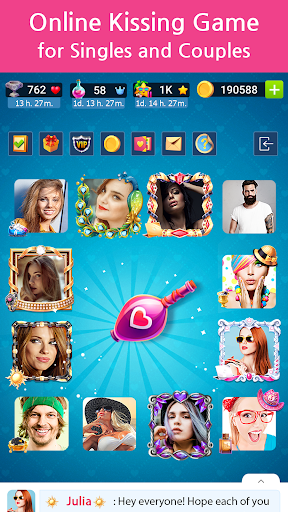 Kiss Kiss: Spin the Bottle for Chatting & Fun android2mod screenshots 2