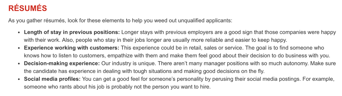 Manager Hiring Help