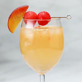 Watermelon Peach Sangria Recipe