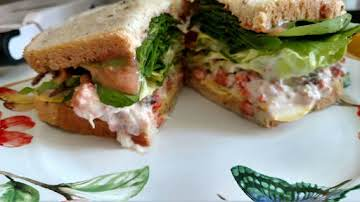Smoked Cod Salad Sandwich