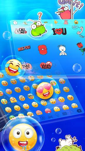 Messenger SMS - 3D Ocean Theme, Call app, Emojis screenshot 3