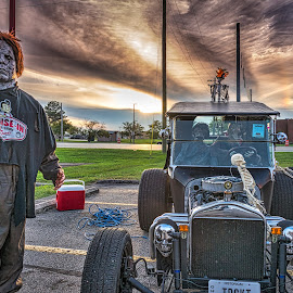 Zombie Car Hop by Pat Lasley - Public Holidays Halloween ( halloween, car, zombie, frischs, funny )