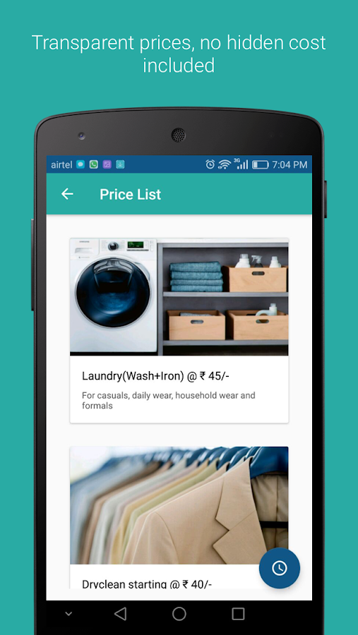 Remphi - The Dryclean App- screenshot