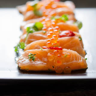 Salmon Carpaccio with Lemon & Chilli.