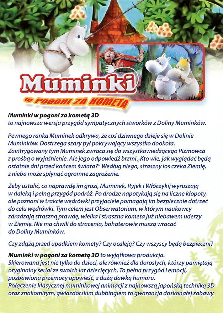 Ulotka filmu 'Muminki W Pogoni Za Kometą (tył)'