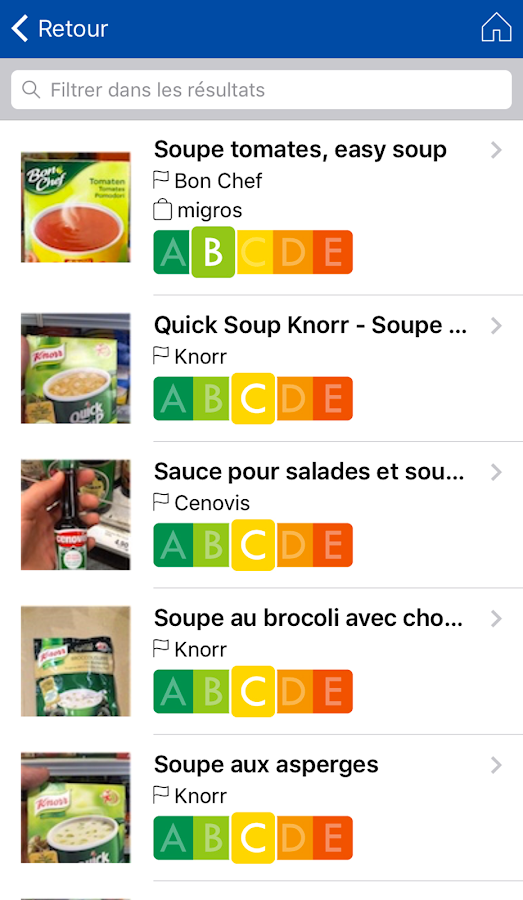 NutriScan BàS- screenshot