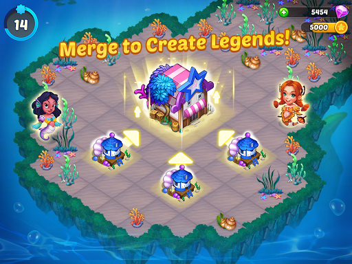 Merge Mermaids-design home&create magic fish life. 1.0.2 screenshots 6