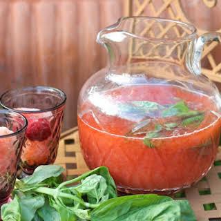 Strawberry-Basil Switchel.