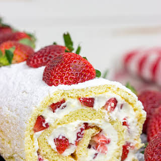 Fresh Strawberry Cake Roll.