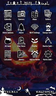 Halloween Wallpaper Pumpkin Candle Theme - náhled