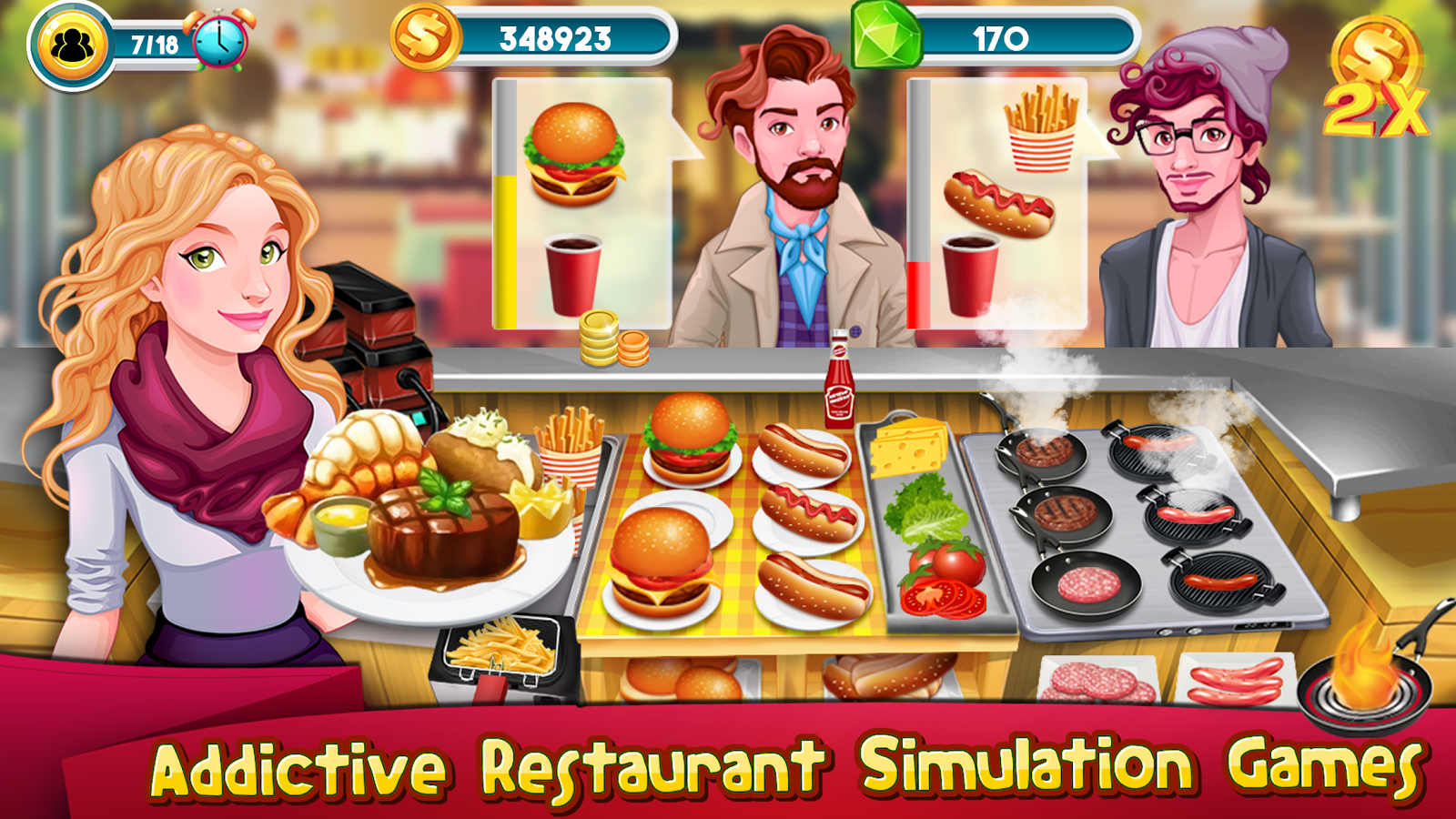 Cooking Fever Level 29 3 stars - YouTube |Food Games